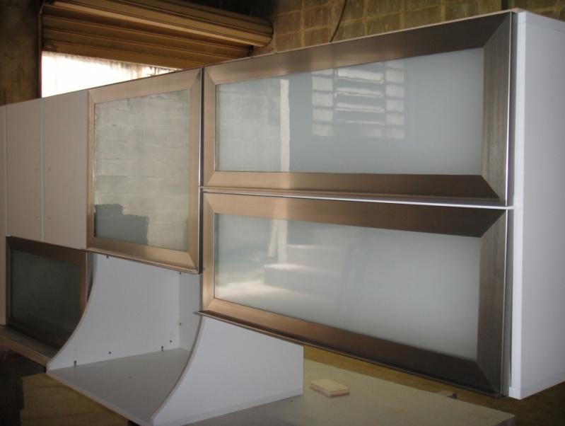 Fábrica de Portas de Alumínio para Móveis Vargem Grande Paulista - Portas de Perfil em Alumínio para Móveis