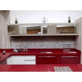 orçamento de porta em alumínio para móveis de cozinha Santo André