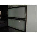 porta em perfil de alumínio bronze preço Biritiba Mirim