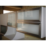 portas de perfil em alumínio para móveis Poá